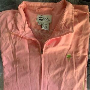 Lilly Pulitzer pink lightweight jacket LG